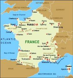 francia nyelvoktatás, franciaorszag_terkepe
